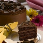 Triple choc cake